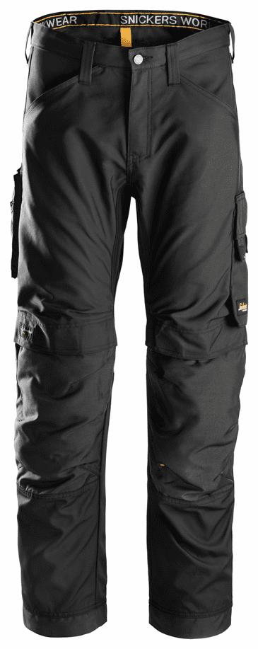 Snickers 6301 AllroundWork Work Trousers without Holster Pockets (Black/Black)