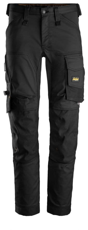 Snickers 6341 AllroundWork Stretch Work Trousers without Holster Pockets (Black/Black)