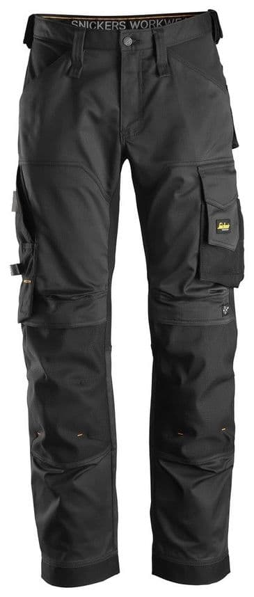 Snickers 6351 AllroundWork Stretch Loose fit Work Trousers (Black/Black)