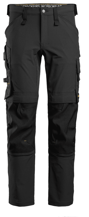 Snickers 6371 AllroundWork Full Stretch Trouser without Holster Pockets (Black/Black)