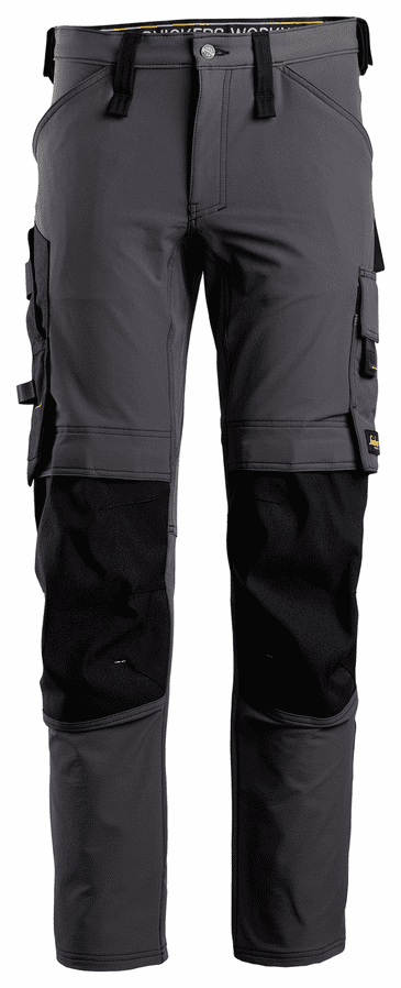 Snickers 6371 AllroundWork Full Stretch Trouser without Holster Pockets (Steel Grey/Black)