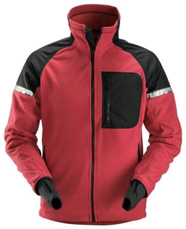 Snickers 8005 AllroundWork Windproof Fleece Jacket (Chili Red/Black)