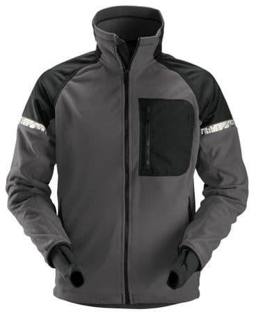 Snickers 8005 AllroundWork Windproof Fleece Jacket (Steel Grey/Black)