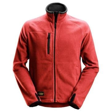 Snickers 8022 AllroundWork Fleece Jacket (Chili Red / Black)