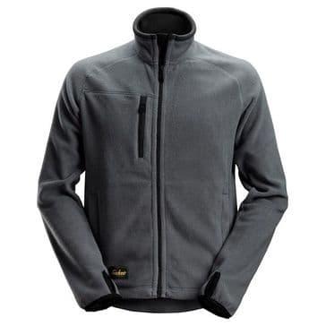 Snickers 8022 AllroundWork Fleece Jacket (Steel Grey / Black)