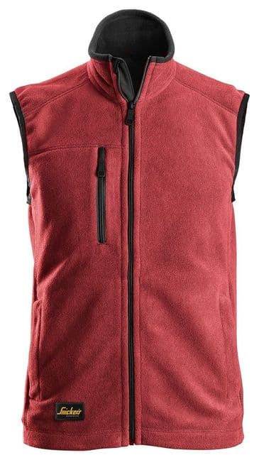 Snickers 8024 AllroundWork Fleece Vest (Chili Red / Black)