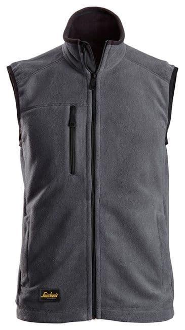Snickers 8024 AllroundWork Fleece Vest (Steel Grey / Black)