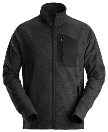 Snickers 8042 FlexiWork Fleece Jacket (Black/Black)