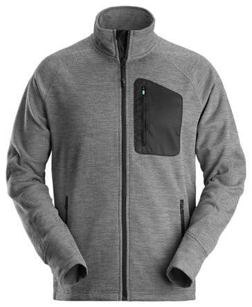 Snickers 8042 FlexiWork Fleece Jacket (Grey/Black)