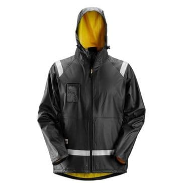 Snickers 8200 Rain Jacket, PU (Black)