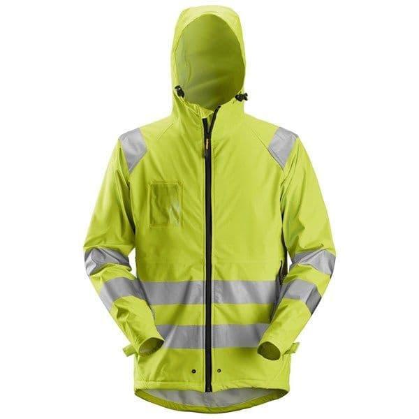 Snickers 8233 High-Vis PU Rain Jacket, Class 3 (High Vis Yellow)