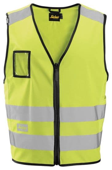 Snickers 9153 High-Vis Vest, Class 2 (High Vis Yellow)