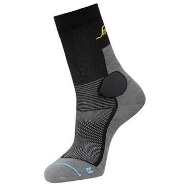 Snickers 9217 LiteWork 37.5® Mid Socks (Grey Melange/Black)