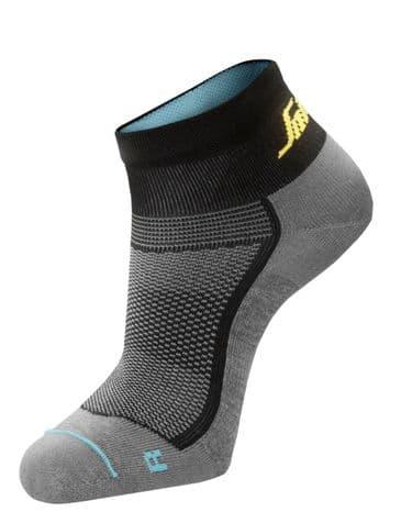 Snickers 9218 LiteWork 37.5® Low Socks (Grey Melange / Black)