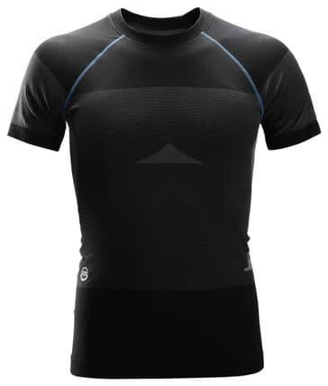 Snickers 9419 LiteWork Seamless 37.5® Short Sleeve Shirt (Black/Grey)