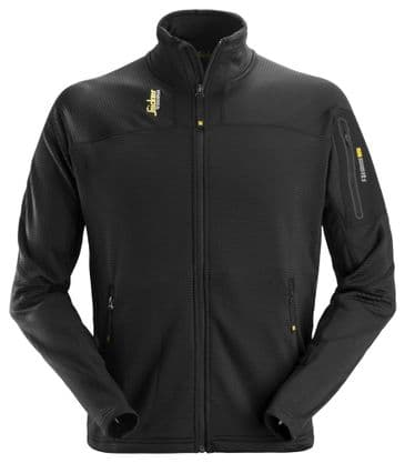 Snickers 9438 Body Mapping Micro Fleece Jacket (Black)