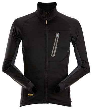 Snickers 9448 LiteWork Full Zip Midlayer Top (Black/Steel Grey)