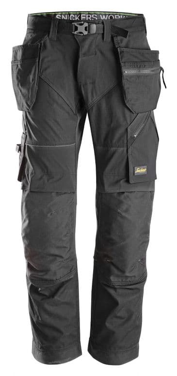 Snickers FlexiWork 6902 Work Trousers with Holster Pockets (Black/Black)