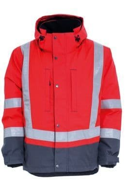 Tranemo 4801 CE-ME Winter Jacket (High Vis Red/Grey)