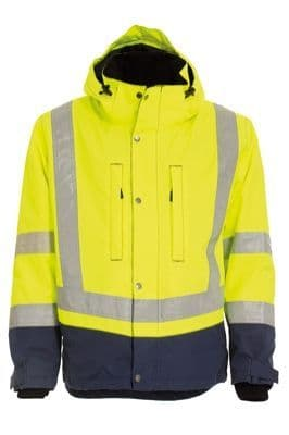 Tranemo 4801 CE-ME Winter Jacket (High Vis Yellow/Navy)