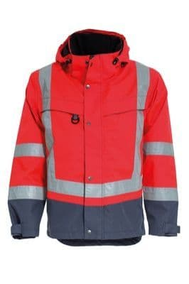 Tranemo 4808 CE-ME Shell Jacket HV (High Vis Red/Grey)