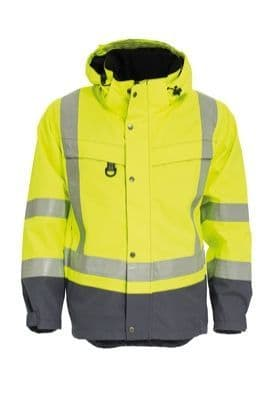 Tranemo 4808 CE-ME Shell Jacket HV (High Vis Yellow/Grey)