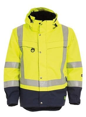 Tranemo 4808 CE-ME Shell Jacket HV (High Vis Yellow/Navy)