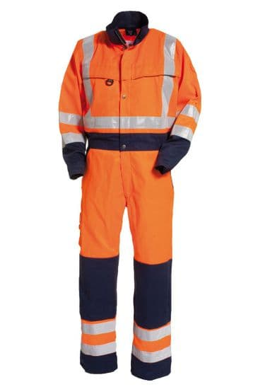 Tranemo 4810 CE-ME Boilersuit (High Vis Orange/Navy)