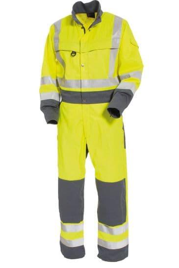 Tranemo 4810 CE-ME Boilersuit (High Vis Yellow/Grey)