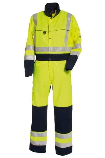 Tranemo 4810 CE-ME Boilersuit (High Vis Yellow/Navy)