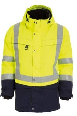 Tranemo 4818 CE-ME Parka (High Vis Yellow/Navy)