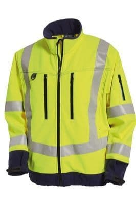 Tranemo 4832 CE-ME Softshell Jacket (High Vis Yellow/Navy)
