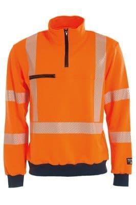 Tranemo 4871 CE-ME Sweatshirt (High Vis Orange/Navy)