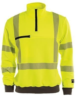Tranemo 4871 CE-ME Sweatshirt (High Vis Yellow/Black)