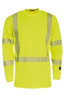 Tranemo 4874 CE-ME T-Shirt Long Sleeve (High Vis Yellow)
