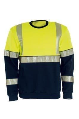 Tranemo 5075 Sweatshirt FR (High Vis Yellow/Navy)