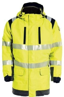 Tranemo 5119 Outerwear FR Parka With Lining (High Vis Yellow/Black)