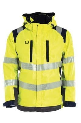 Tranemo 5136 Shell Lined Jacket (High Vis Yellow/Black)