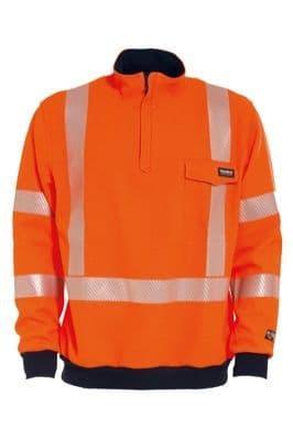 Tranemo 5270 Sweatshirt (High Vis Orange/Navy)