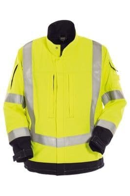 Tranemo 5832 Tera TX Windbreaker Jacket With Lining (High Vis Yellow/Black)
