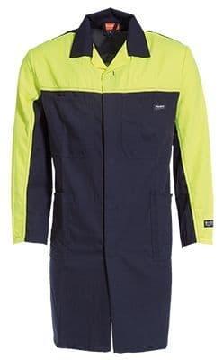 Tranemo 5932 Flame Retardant Warehouse Coat (Navy/High Vis Yellow)