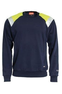Tranemo 6375 Sweatshirt Visible (Navy/High Vis Yellow)