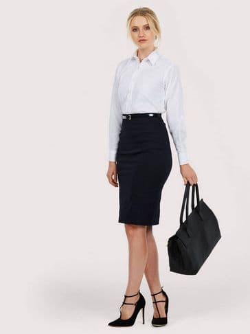 Uneek Ladies Oxford Long Sleeve Shirt UC703