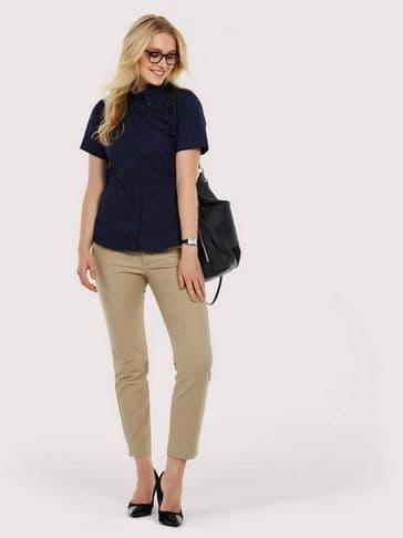 Uneek Ladies Oxford Short Sleeve Shirt UC704