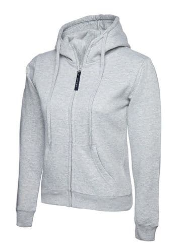 Uneek UC505 Ladies Classic Full Zip Hooded Sweatshirt