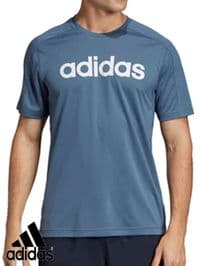 Men's Adidas 'Design 2 Move ClimaCool Logo' T Shirt (EI5658) x8 (Option 2): £6.95