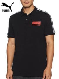 Men's Puma 'Camo Pack Tape' Polo Shirt (845058-01) x7 (Option 1): £8.95