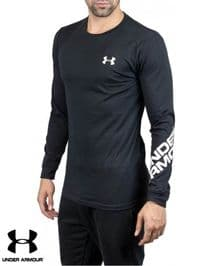 Men's Under Armour 'Wordmark' Long Sleeve Top (1344228-001) x7: £9.95